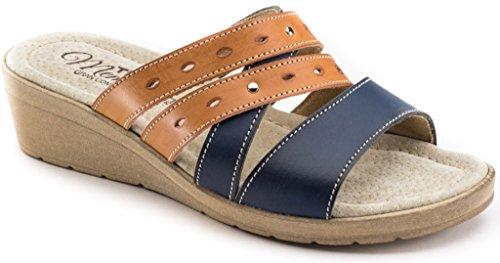Pantofole Donna Art Da Ciabatte Memory 3186 Blu Tiglio qZw5Aa6n