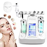 8 In 1 Water Oxygen Machine, Skin Care Injection Spray Radio Frequency Hydro Jet Lifting BIO Micro Massage Dermabrasion Tool for Facial Moisturizing Cleaning Pores Clear Beauty Wrinkle Remove(White)