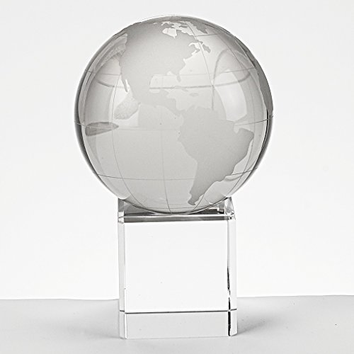 Earth Globe Vase - Badash H146 Earth Globe on Crystal Blank Engravable Stand