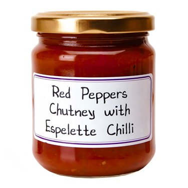 - Red Peppers Chutney with Espelette Chili French Imported 7.4 oz jar by l'Epicurien France, One