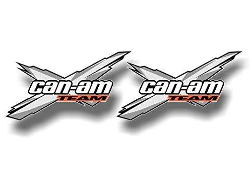 2 Team Can-Am Racing 5.5'', 12'' or 28'' Decals Graphics Renegade Snorkel Kit Quad ATV Trailer Vinyl Stickers ((2) 3'x 5.5' Decals, Grey)