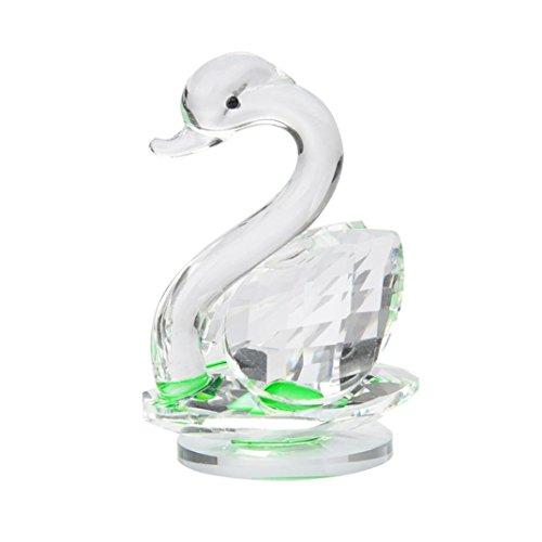 Yeefant High Grade Noble and Elegant Crystal Swan Wedding Pa