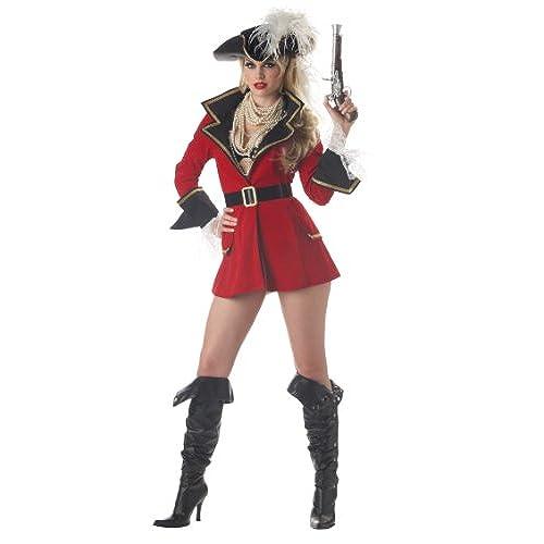California Costumes Womenu0027s Captainu0027S Treasure CostumeRed/BlackLarge  sc 1 st  Amazon.com & Female Pirate Costumes: Amazon.com