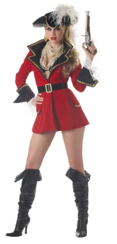 Red Captain Hook Jacket (California Costumes Women's Captain'S Treasure)