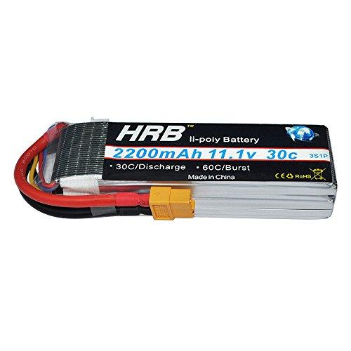 Hrb 2packs 2200mah 3s 11 1v 30c Pila Recargable Lipo Bateria Para