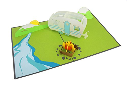 - PopLife Camping Trip 3D Pop Up Fathers Day Card - Dad Gift, Camping Birthday, Retirement, Popup Father's Day Card - Fold Flat for Mailing - Mountain Card, RV Gift, National Park - for Husband, for Son