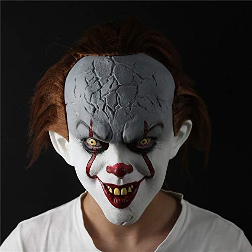 PAPWELL Pennywise Mask Hot Toys IT 2017 Ultimate New Scary Cosplay Costume Face Masks Horror Exclusive Clown Toy Halloween Christmas Collectible Collectable Gifts Collectibles Gift for Adults -