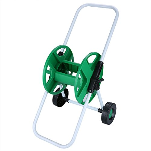 Jaketen Garden Tool Portable Water Hose Pipe Holder Trolley Cart with 2 Wheels Garden, Lawn, Lawn Irrigation, Yard Cleaning
