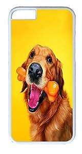 iPhone 6 Plus Cases, ACESR Plastic Hard Case Cover for Apple iPhone 6 Plus (5.5inch Screen) White Border Golden Retrievers