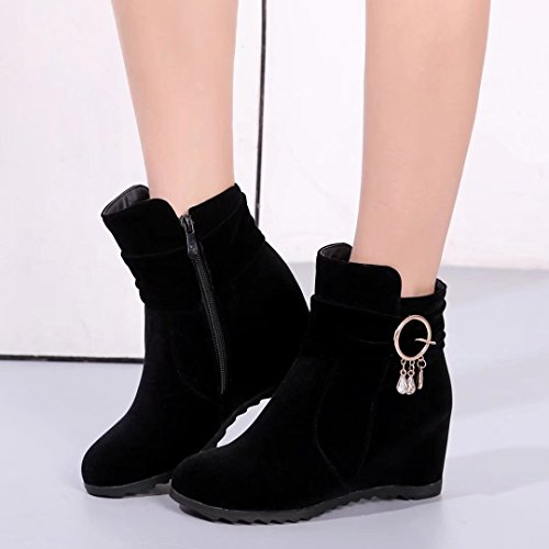 AIYOUMEI Women's Classic Boot Black jcGJt7ZbIc