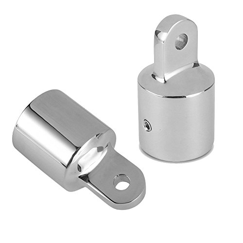 Amadget Bimini Top Caps Tube, 3/4'' Eye End Top Fitting Marine 316 Stainless Steel Hardware 19MM (Pack of