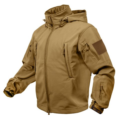 ROTHCO SPECIAL OPS TACTICAL SOFTSHELL JACKET - COYOTE - (Special Ops Vests)