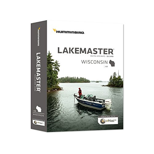 Humminbird Lakemaster Plus Wisconsin Contour Digital GPS Map