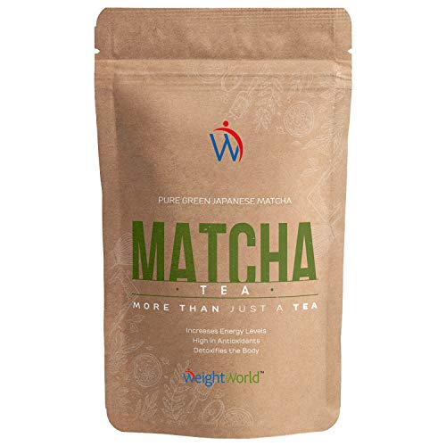 Matcha Tea 100 gr | Te Matcha Ceremonial Japones, Polvo de Te 100% Natural, Dieta Detox Adelgazante, Aumenta Energia, Metabolismo, Potente Antioxidante Rico en Vitamina A, K y E, Sin Gluten, Vegano
