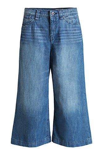 Femme Blue blue By Esprit Relaxed Culotte Medium Pantalon Bleu Wash Edc 04gqxwq