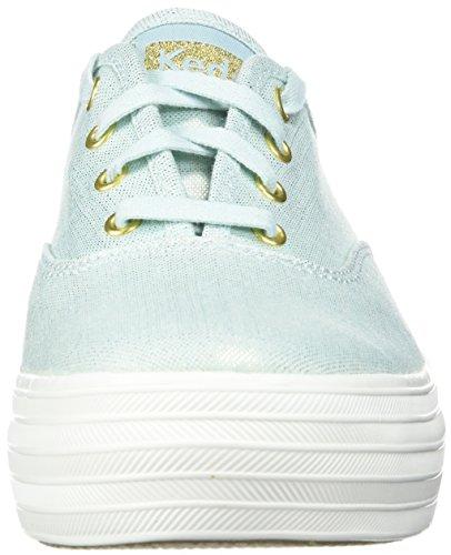 Triple Linen Sneakers Women's Metallic Keds Blue Light 0xH56wq