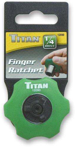 Titan 12090 1//4-Inch Dr Finger Ratchet