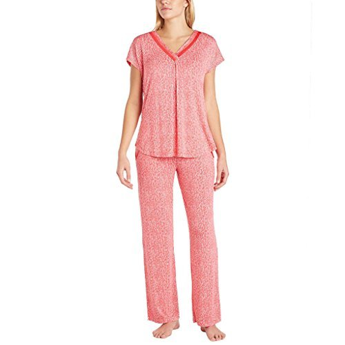 Carole Hochman Midnight Ladies 2-piece Modal Pajama Set (Small, Pink/White) from Carole Hochman