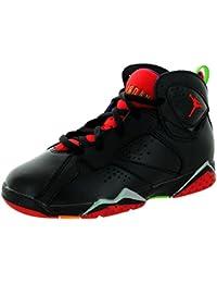 943ec2878cd3d Nike Jordan Kids Air Jordan 7 Retro BP Black University Red Grn Pls