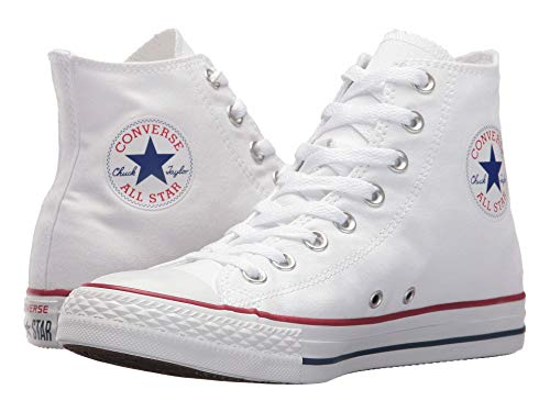 Converse Unisex Chuck Taylor Hi Top White Canvas Shoes 6.5 D(M) Men/8.5 B(M) Women]()