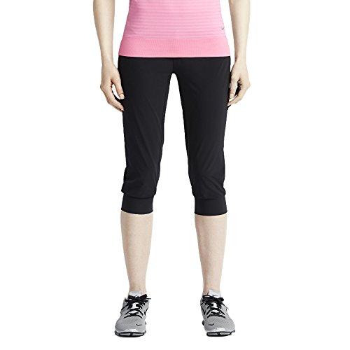 Nike Women's Dri-Fit Woven Bliss Skinny Training Capris-Black-Medium