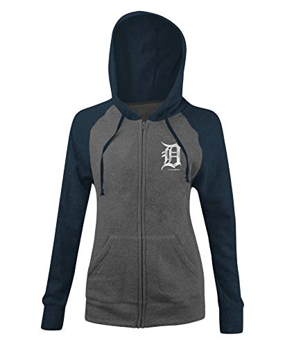 New Era Detroit Tigers Women's MLB Double Tri-Blend Hooded Sweatshirt