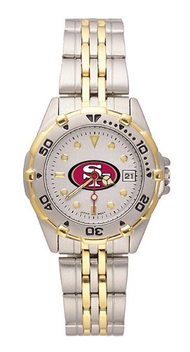 San Francisco 49ers Women's All Star Watch Stainless Steel Bracelet by LogoArt