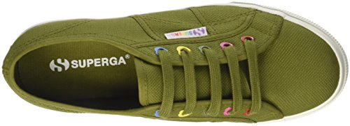 Superga Damen 2730-Cotw Colors Hearts Sneaker Verde (Green Military)