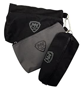 McGuire Nicholas 31001 3 Small Bags, Two Black, One Grey