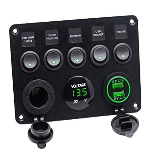 YUSHHO56T Car Interior Parts Voltmeter DC 12V-24V Car Motorcycle LED Panel Digital Voltage Meter Display Voltmeter Blue