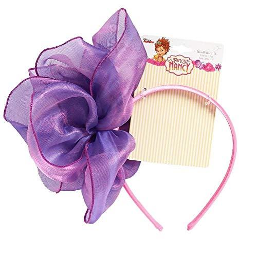 Fancy Nancy Dress Up Headband For Girls Purple Flower Bow Costume Play Dress ()