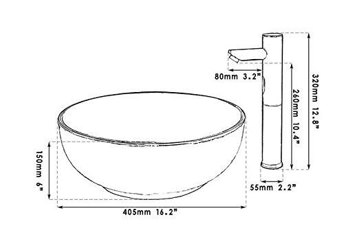 GOWE Sensor Faucet Round Paint Golden Bowl Sinks / Vessel Basins Washbasin Ceramic Basin Sink & Faucet Tap Set 4