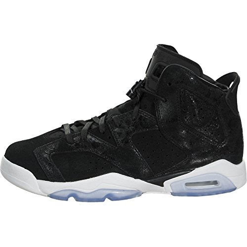 Nike Jordan Kids Air Jordan 6 Retro Prem HC GG Black/Black White Gym Red Basketball Shoe 4 Kids US by Jordan