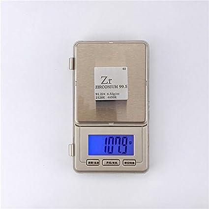 1/ 25,4/mm Circonio Metal cubo 99,5/% 107/G grabado tabla peri/ódica