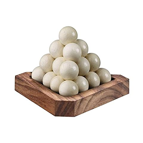 BRAIN GAMES Ball Pyramid Wooden Puzzle
