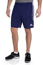 adidas Performance Men\'s Soccer Squadra Shorts, Dark Blue/White, Medium