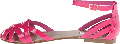 Steve Madden Women's P-Trivol Fuschia Patent Sandal 7.5 M