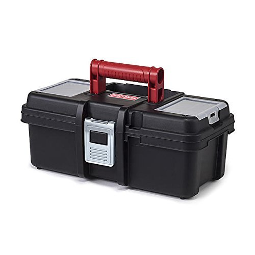 Craftsman 13 Inch Tool Box with Tray - Black/Red (Original Version)