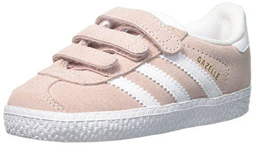 adidas Originals Girls' Gazelle CF I Running Shoe, ice Pink White, 9 M US Toddler