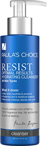 Paula's Choice RESIST Optimal Results Hydrating Cleanser with Green Tea and Chamomile for Normal to Dry Skin - 6.4 oz
