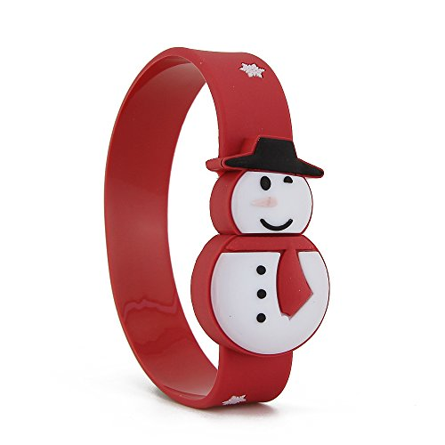 CHUYI Snowman Shape Wristband Bracelet Design 16GB USB 3.0 Flash Drive Pen Drive Memory Stick Cute Thumb Drive Fast Transfer Storage Perfect Christmas Gift for Kids (Red) by CHUYI