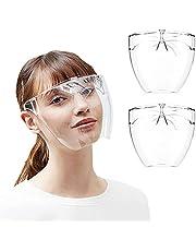 فيس شيلد واقي للوجه، فيس شيلد واقي شفاف لحماية الوجه بالكامل في عبوة من قطعتين، مع اطار نظارة وقطعة للانف بـ 4 مقاسات، للرجال والنساء والاطفال
