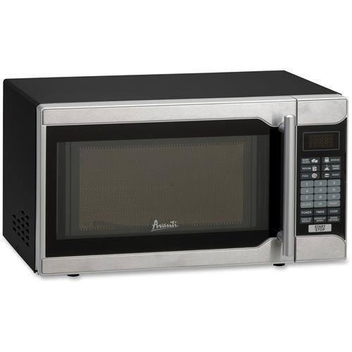 Avanti MO7103SST 0.7 Cu.ft Capacity Microwave Oven, 700 Watts, Stainless Steel and Black by Avanti