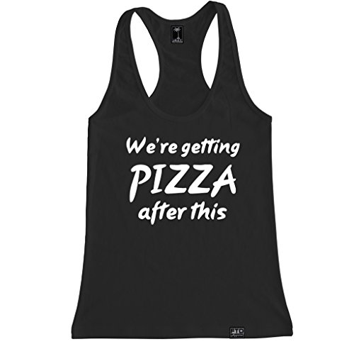 FTD Apparel Women's We're Getting PIZZA After This Racerback Tank Top - Medium - China Chicago Hut