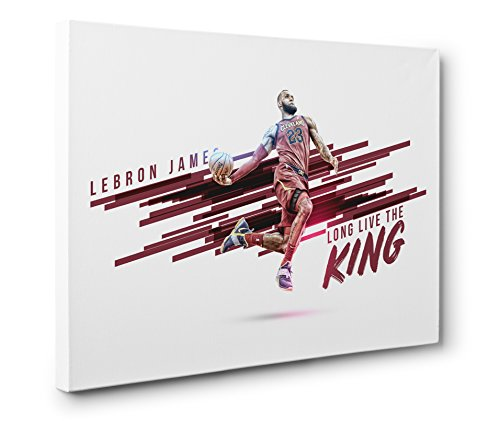 Lebron James Fabric (OneCanvas Lebron James King Gallery Wrapped Canvas Print (Medium - 16x24in.))