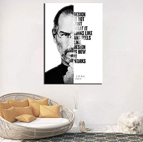Poster Drucken Steve Jobs Zitat Kunstwerk Great Star Modernes /Ölgem/älde Wandkunst Leinwand Bild Wohnzimmer Wohnzimmer Dekor 50 /× 70 cm Ohne Rahmen