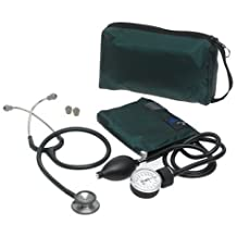 MatchMates Combination Kit with a 3M Littmann Classic II S.E. Stethoscope and a Mabis Aneroid Sphygmomanometer, Hunter Green