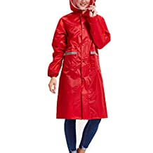 M-Egal Impermeable Raincoat Women Men Couple Waterproof Trench Coat Rain Coat Rainwear Rain Gear with Rain Board