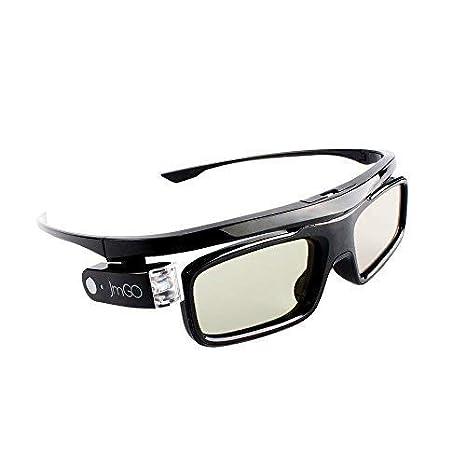 JMGO - Gafas Recargables de Obturador 3D Activo, Compatible con ...