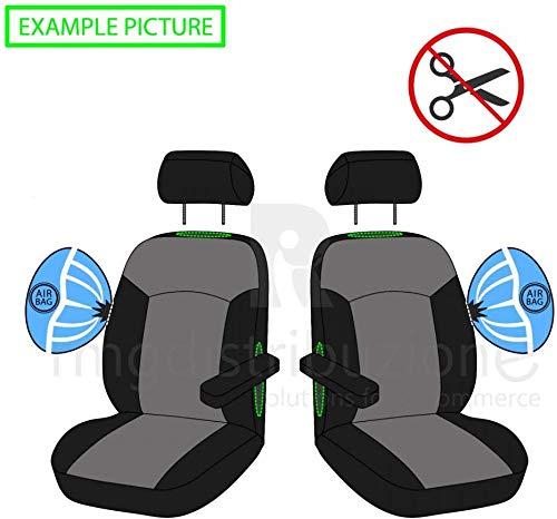 compatibili con sedili con airbag con Fori per i poggiatesta e bracciolo Laterale 2009-2016 Coprisedili Anteriori Megane Versione III